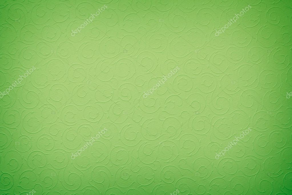 Vivid green background with round organic ornaments — Stock Photo #8520943