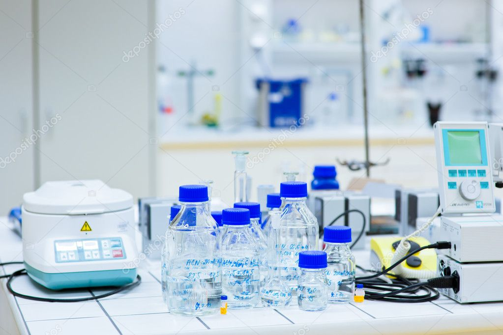 In a chemistry laboratory   Stock Photo #8520975