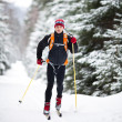 Stock Photo: Cross-country skiing: young mcross-country skiing