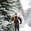 Cross-country skiing: young man cross-country skiing — Stock Photo #8666194