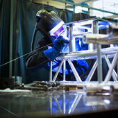 Welder at work — Fotografia Stock