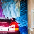 cars in a carwash — Stock Photo