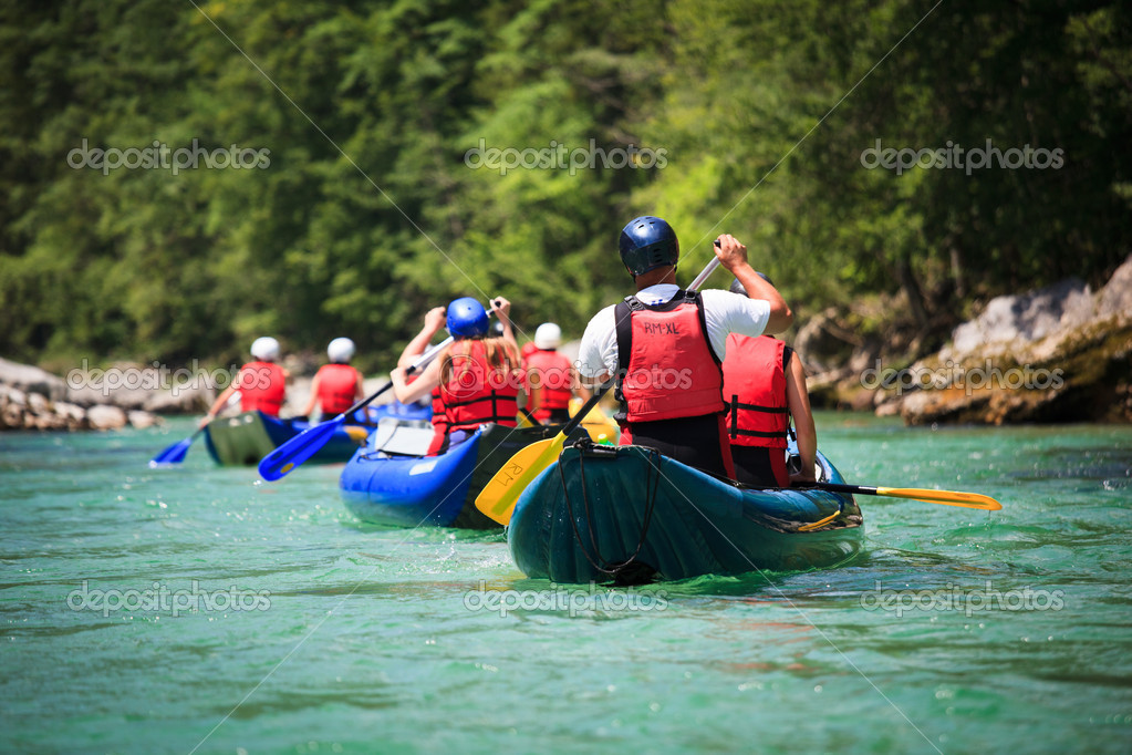 White water rafting  Stock Photo #9115301