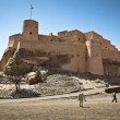The Nakhl Fort in Al Batinah, Oman - Stock Photo
