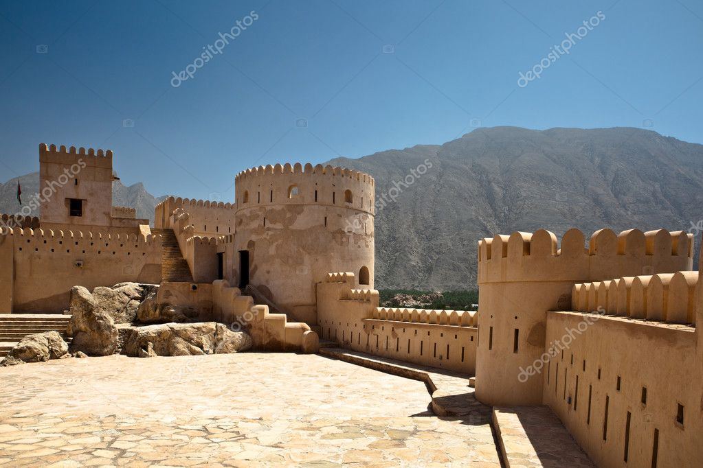 The Nakhl Fort in Al Batinah, Oman  Stock Photo #9269952