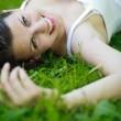Close-up portrait of an attractive young woman outdoors — Stock Photo #9388835