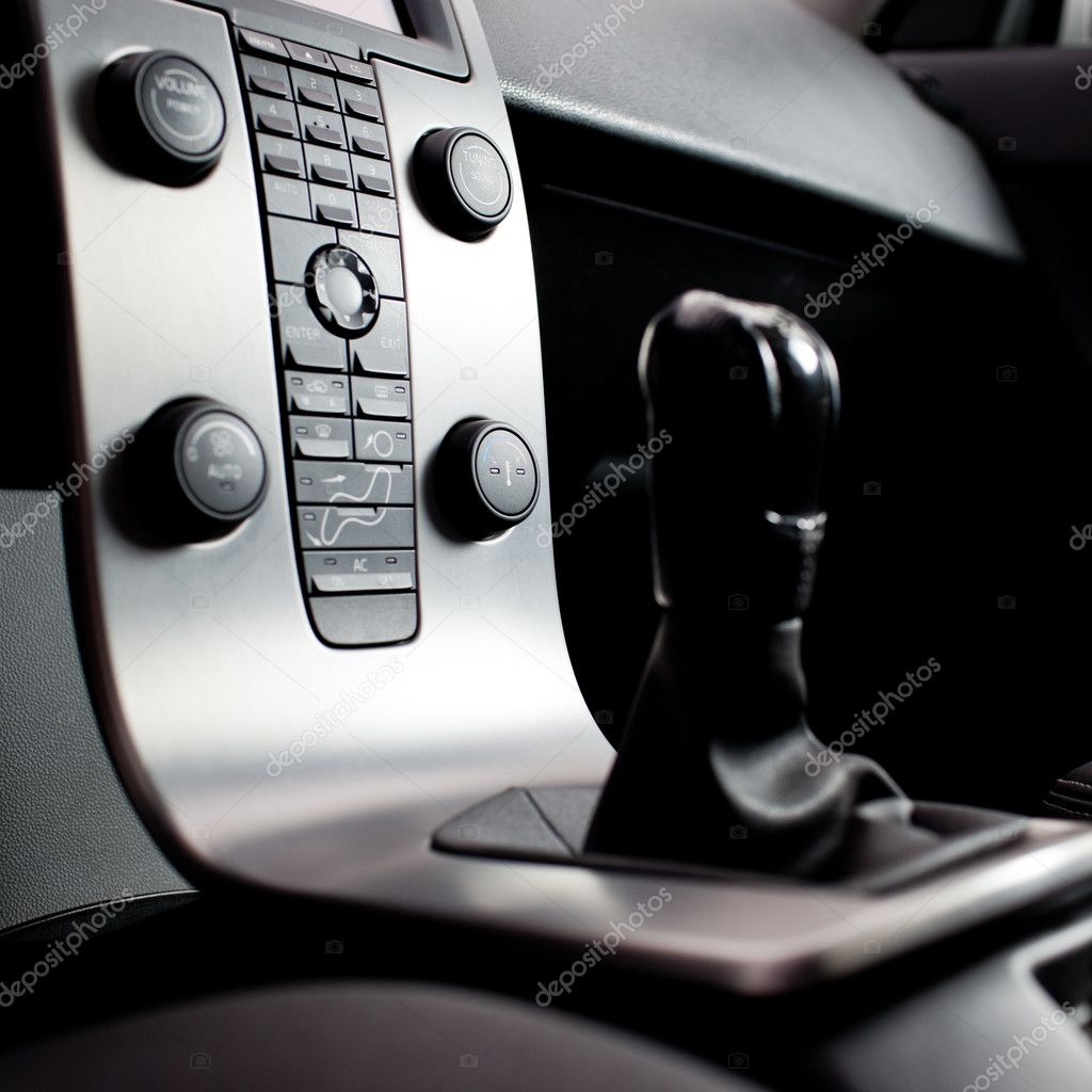 Modern car interior  Stock Photo #9388827
