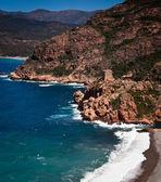 Corsica west coast calanches of Scandola near Porto — Stock Photo