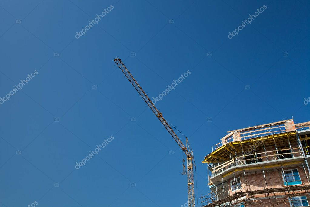 Residential building construction site — Stock Photo #9790534