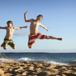 Jump at the beach — Stock Photo