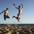 Jump at the beach — Stock Photo #9201464