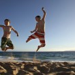 Jump at the beach — Stock Photo #9201538