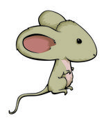 The gray mouse with ears — Stock Vector