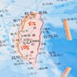 Taiwan map background — Stock Photo
