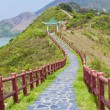 Hiking path in mountains — 图库照片