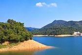 Paisagem de lago em hong kong — Fotografia Stock
