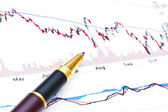 Financial analysis background — Stock Photo