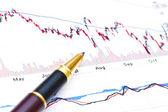 Fondo de análisis financiero — Foto de Stock