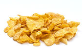 Corn flakes on white background — Stok fotoğraf