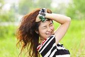 Crazy asian woman — Stock Photo