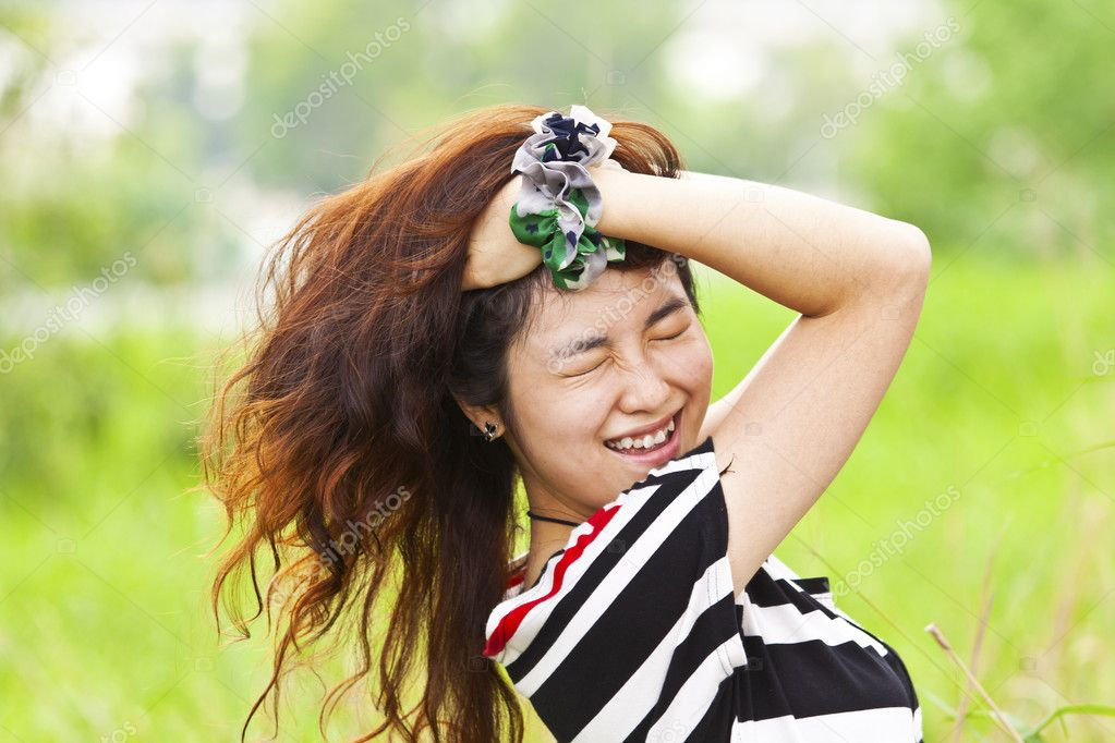 Crazy asian woman — Stock Photo #10539244