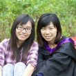 Friendship forever concept by two asian girls - Stockfoto