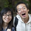 Asian friends with big smile — Stock Photo #8068720