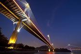 Ponts de hong kong dans la nuit — Photo