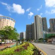 Tin Shui Wai downtown in Hong Kong at day - Foto Stock
