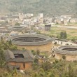 Tulou view from the top in Fujian, China — Stok fotoğraf