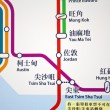 Hong Kong MTR route map — Stock Photo #8550738