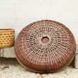 Traditional chinese hat and basket for farmers — Foto Stock