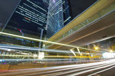 Modern skyscrapers and traffic in downtown of Hong Kong — Stock Photo