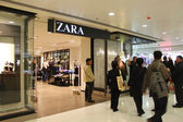 Zara shop in Hong Kong mall — Stock Photo