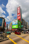 Hong kong - 31 jul, dichten verkehr in yuen long downtown in hong k — Stockfoto