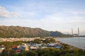Elektrárna a horské krajiny v hong Kongu — Stock fotografie