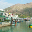 stilt houses in tai o fishing village in hong kong — Stock Photo