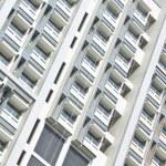 Hostel windows of university — Stock Photo