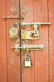 Chinese lock and door — Stock Photo