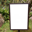 Blank billboard in countryside — Stock Photo