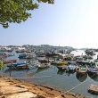 Cheung Chau fishing boats along the coast in Hong Kong — Stock Photo