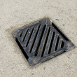 Drainage system the manhole on floor — Stockfoto