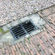 Stock Photo: Drainage system the manhole on floor