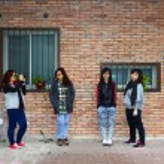 Asian stylish female friends — Stock Photo