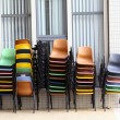 Royalty-Free Stock Photo: Many colorful chairs