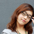 Asian businesswoman with glasses — Stock Photo