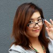 Asian businesswoman with glasses — Foto de Stock