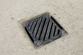 Drainage system the manhole on floor — Stock Photo