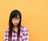 A sad asian woman — Stock Photo