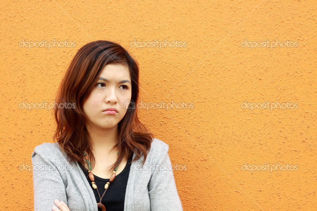 A sad asian woman — Stock Photo #8925163